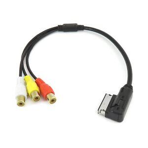 AMI-MDI-A-3-Cable-RCA-AUDIO-VIDEO-MUSICA-Interfaz-Adaptador-Para-Audi-Volkswagen