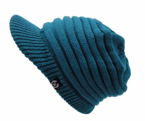 Women/'s S-Visor Cable Knitted Slouched Beanie
