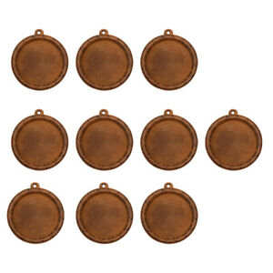 20pcs Wooden Cameo Cabochon Setting Base Tray Pendants for DIY Necklace 30mm