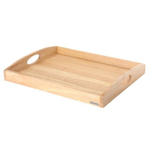 CONTINENTA Tablett 50 x 39 x 5 cm aus Gummibaumholz