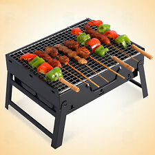 Edelstahl 35cm Tragbar, Faltbar BBQ Dunkelgrau Barbecue-Grill Garten Außen