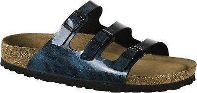Details zu Birkenstock Florida Fresh Weichbettung Sandalen normal iride strong blue 1011180