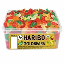1 TUB HARIBO GOLDBEARS RETRO SWEETS WHOLESALE DISCOUNT TREATS PARTY CANDY BOX