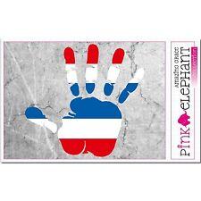 Aufkleber - Thailand - Hand - Fahne - bumper sticker - car - flag - Flagge mano