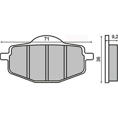 Bremsbeläge Bremsbeläge Hinten Yamaha Yz 125 125 1988 > Rms 225102730 Jahre Lang StöRungsfreien Service GewäHrleisten Auto & Motorrad: Teile