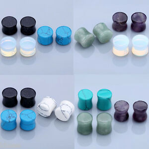3-Pairs-Organic-Stone-Saddle-Flared-Ear-Tunnels-Plugs-Expander-Stretcher-Earlets