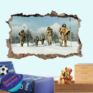 Image Is Loading Caveman Ice Age Wall Stickers Posters Art Decals