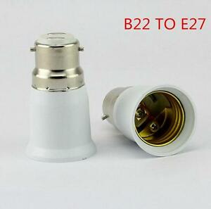 Bayonet-BC-B22-To-Edison-Screw-ES-E27-Light-Bulb-Adaptor-Lamp-Converter-Holder-F