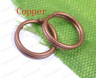 Silver plated Double Loop split Jump Rings Jewelry make findings 4/6/8/10/12MM