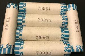 Unsearched-Buffalo-Nickel-Roll-Old-US-Coins-5c-Mixed-Lot-Nickels-40-coins