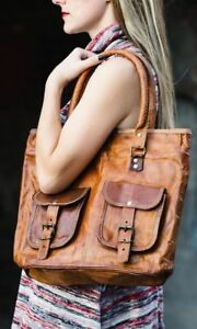 Hobo-Tote-Purse-Women-Vintage-Brown-Leather-Messenger-Cross-Body-Bag-Handmade