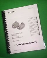 Laser Printed Sony Handycam Sr68 Sr88 Manual User Guide 98 Pages