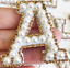 miniature 11 - Pearl Letter Patches Rhinestone Sparkle Alphabet Embroidery Sew on Iron on A-Z