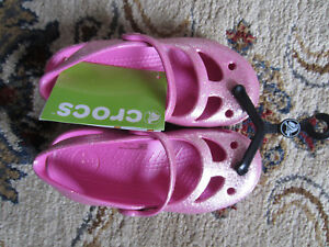 4a0700a264eb Image is loading NWT-Crocs-Shayna-Glitter-Sandals-Mary-Jane-shoes-