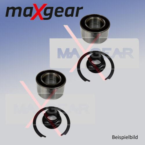2x Radlagersatz für Radaufhängung Hinterachse MAXGEAR 33-0716
