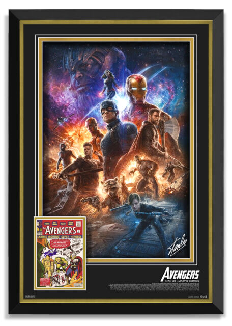 Marvel Avengers & Thanos Framed With Stan Lee Signed Photo - Limited Edition