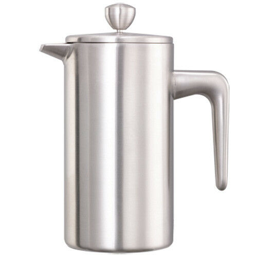 Service Ideas Double Wall Stainless Steel French Press, 33.8 oz., Brushed Finish
