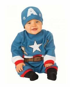 Dettagli su Costume Capitan America Carnevale Vestito Neonato Bambino Rubie's TG. 0 6 mesi