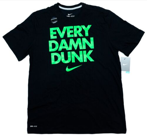 Shirt L XL Black 698584 010 BASKETBALL Nike Men/'s Dri-FIT EVERY DAMN DUNK