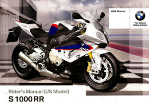 2013 2014 Bmw S1000rr Motorcycle Owners Riders Manual Bmw S 1000 Rr S1000 Usa Ebay