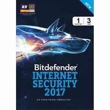 BitDefender Internet Security 2017 - 1 PC, 3 Year (eDelivery)