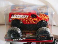 "2009 MONSTER JAM "" BACKDRAFT 1:24 BIG ONE "" KEY HOT WHEELS DIE CAST TRUCK CAR"