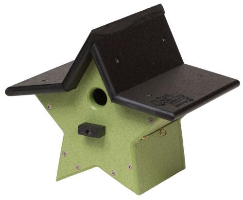 HANGING STAR BIRDHOUSE 100/% Recycled Weatherproof Poly Amish USA Handmade