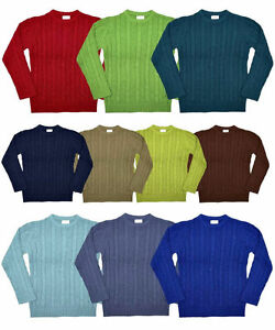 Boys-Girls-Ex-NEXT-Cable-Knit-100-Cotton-Jumper-3-4-5-6-7-8-9-10-11-12-Xmas-NEW