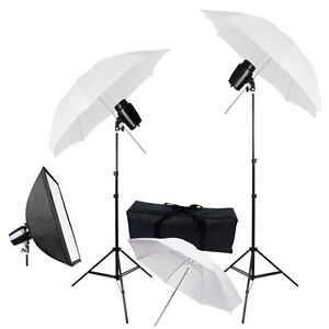 3x-33-034-Umbrella-Softbox-Strobe-Flash-Light-Kit-Photo-Studio-Photography-Lighting