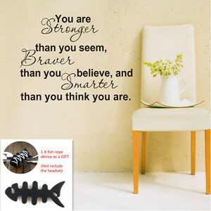 You Are Stronger Than You Seem Wall Decal Vinyl Sticker Quote Winnie