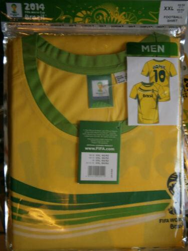Herren Fußball Shirt//Trikot*Brasilien Nr 10*XXL 60//62 *Neu* OVP Wm 2014