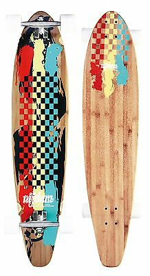 "Longboard Bambus 42"" Kicktail Lager Abec9 Getestet Nach En 13613:2009 - Neu -"