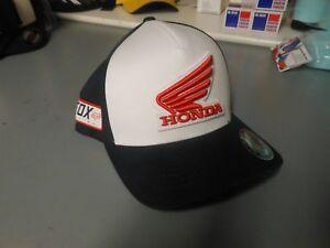 Fox Racing Honda Baseball MX Hat Cap Flexfit L XL Midnight 21109-329 ... 7348341cb30