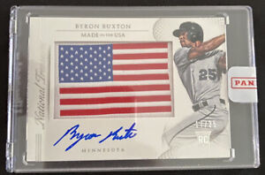 BYRON BUXTON #/25 RC On-Card Auto Rookie 2015 National Treasures Patch 🔥🔥🔥