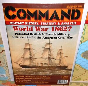 2-BOARD-WARGAMES-Mag-Command-39-Strike-North-WW2-ACW-Hoorah-Pittsbg-Attacked
