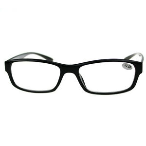 Designer-Men-039-s-Temple-Magnetotherapy-Half-Rimless-Reading-Glasses-Reader-Black