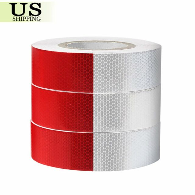 """2/"""" Wide Safety  Red /& White - Reflective DOT Conspicuity Tape 150 FT"""