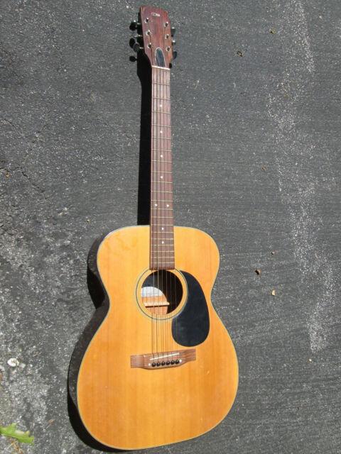 Vintage Conn F-10 Concert 1970s Blond Guitar ! DECENT NECK, X-Braced Top