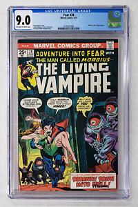 CGC 9.0 FEAR #28 MORBIUS THE LIVING VAMPIRE MARVEL COMICS GIL KANE COVER