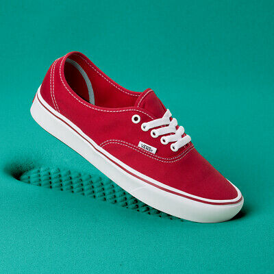 vans red authentic shoes