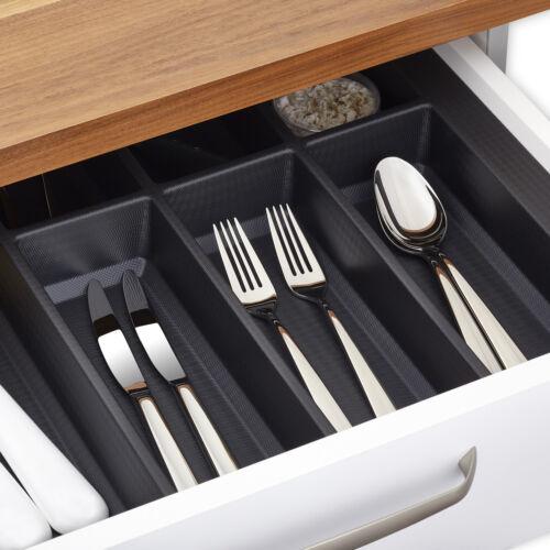 Besteckeinsatz 900 mm schwarz für Blum Legrabox in Schüller Warendorf Küchen