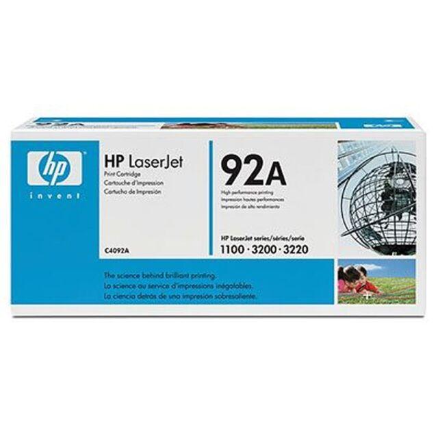 HP C4092A Toner Cartridge -  Black, 2,500 Pages at 5%,  LaserJet 1100/3200