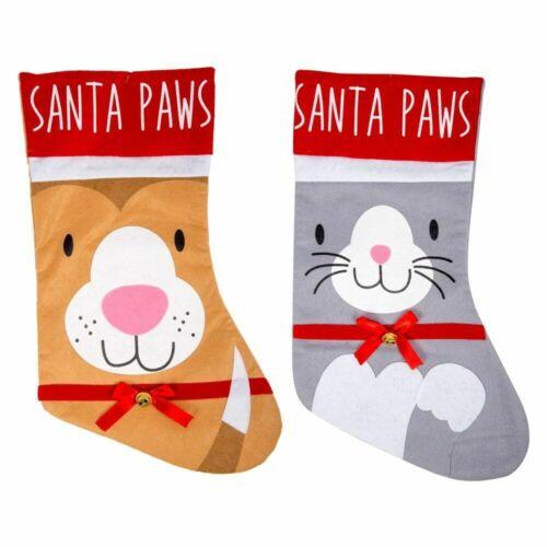 Christmas Pet Cat or Dog Stocking Bells Festive Santa Paws Xmas Filler Gift