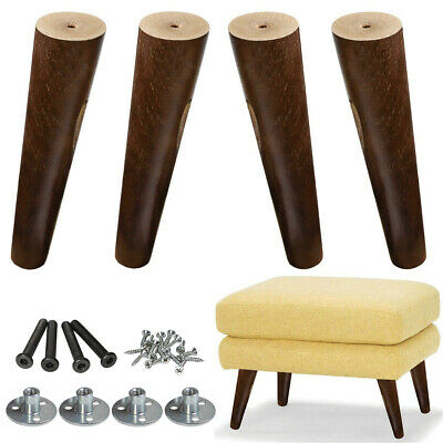 Walnut Sofa Legs Couch Feet Footstool