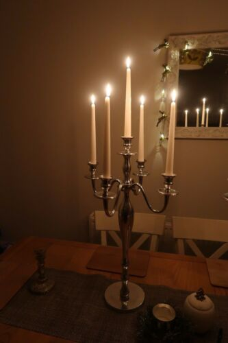 Silver 65cm Candelabra *FOR HIRE* wedding event Surrrey /& SW London 11 avail