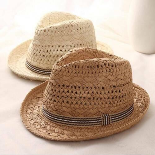 Sommer-Reise Boho Beach Hand-Wovenk Hut Stroh Sonnenhut Eltern-Kind-Freizeithut