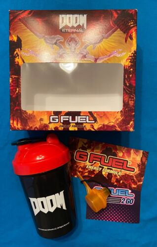 ohne // without tub Gfuel Collectors Box Dr Doom Eternal G-fuel G Fuel