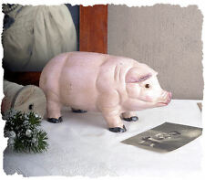 Piggy bank Maiale FORTUNATO FRIDA OGGETTO D'ANTIQUARIATO GHISA Casa rustica