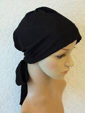 Chemo headscarf, chemo bonnet, bad hair day scarf, black tichel, head snood