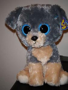 "Ty Beanie Boos ~ SCRAPS the 9"" Schnauzer Dog Buddy ~ 2010 ~ MINT with MINT TAGS"